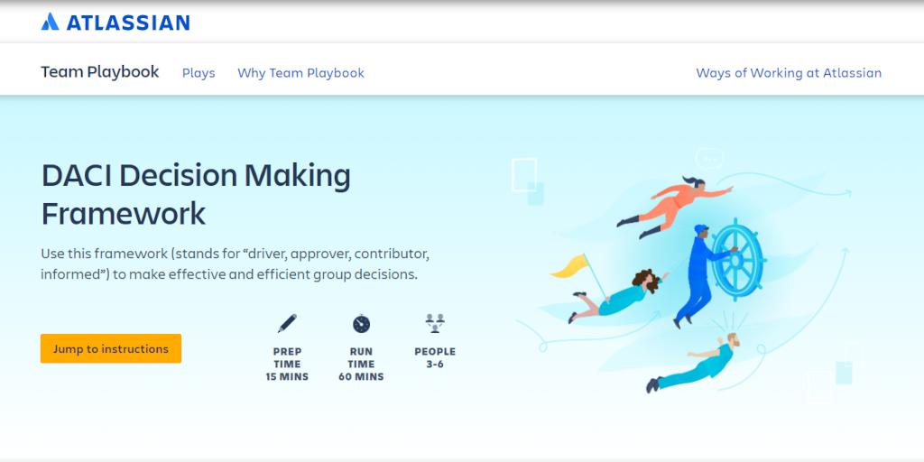 DACI framework: Atlassian's Team Playbook