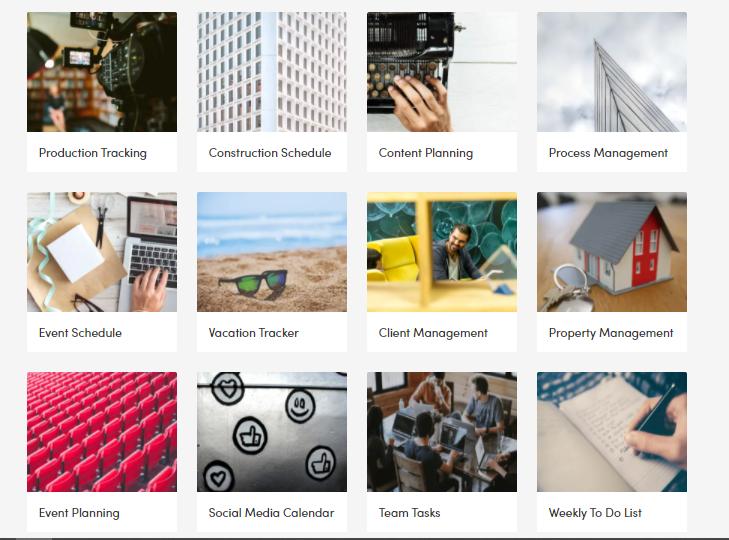 monday.com's templates page screenshot