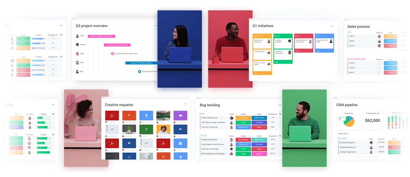 monday.com's visual dashboards make it easy to see work at a glance.