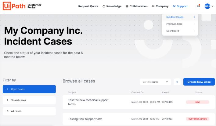 uipath-customer-portal-support-dashboard