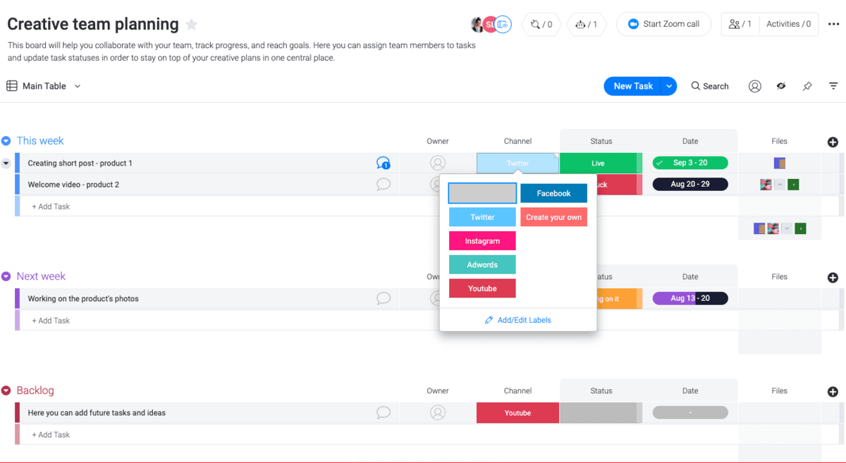 monday.com's templates in action