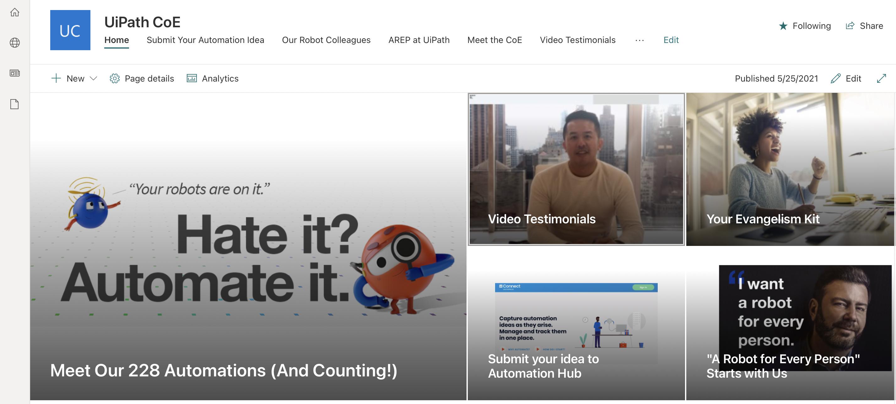 uipath-automation-coe-intranet
