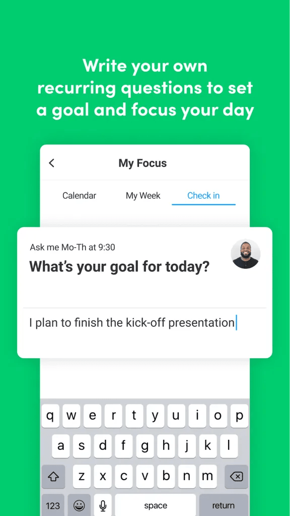 monday.com my focus question feature