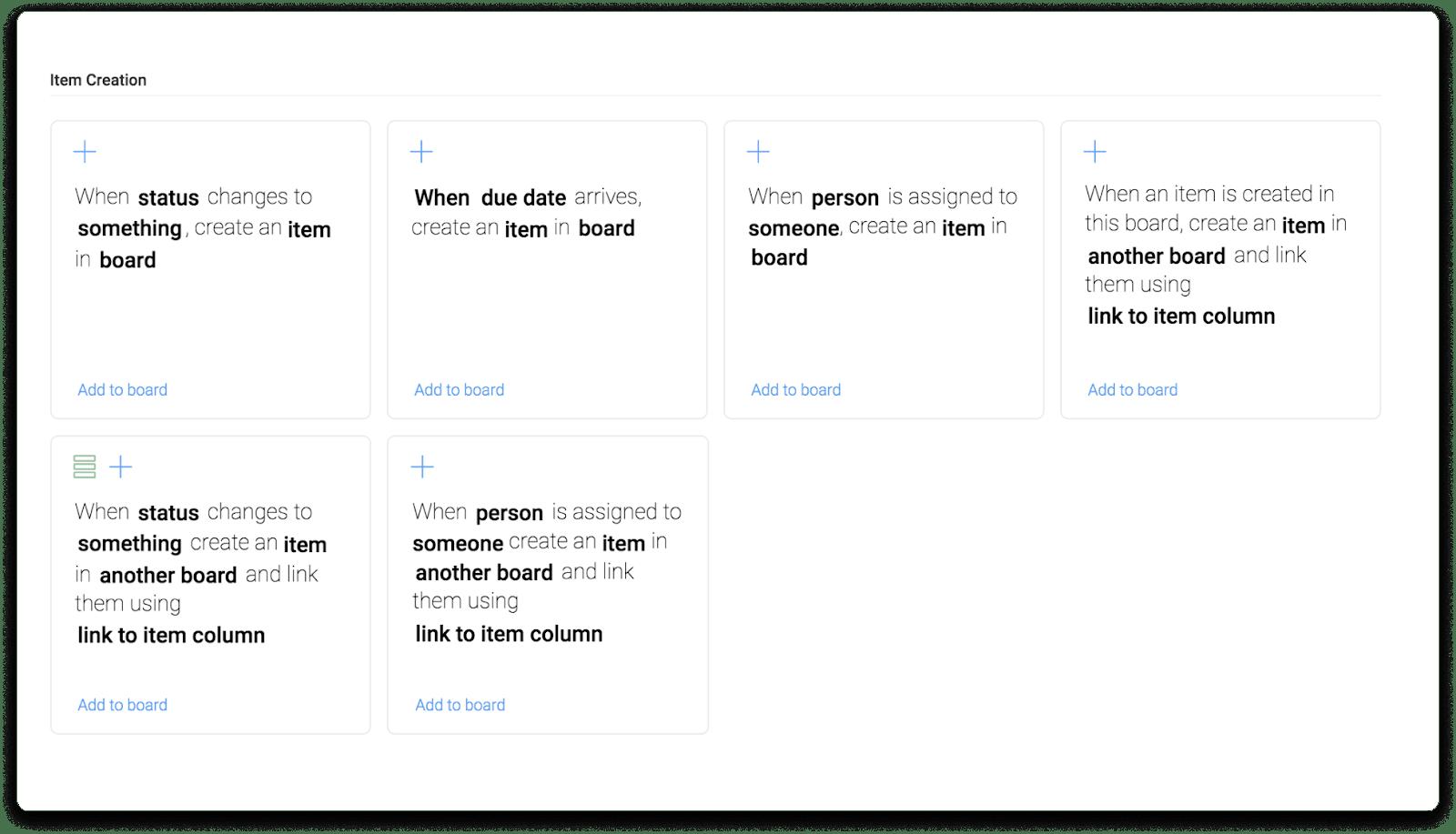 monday.com cross-board automations