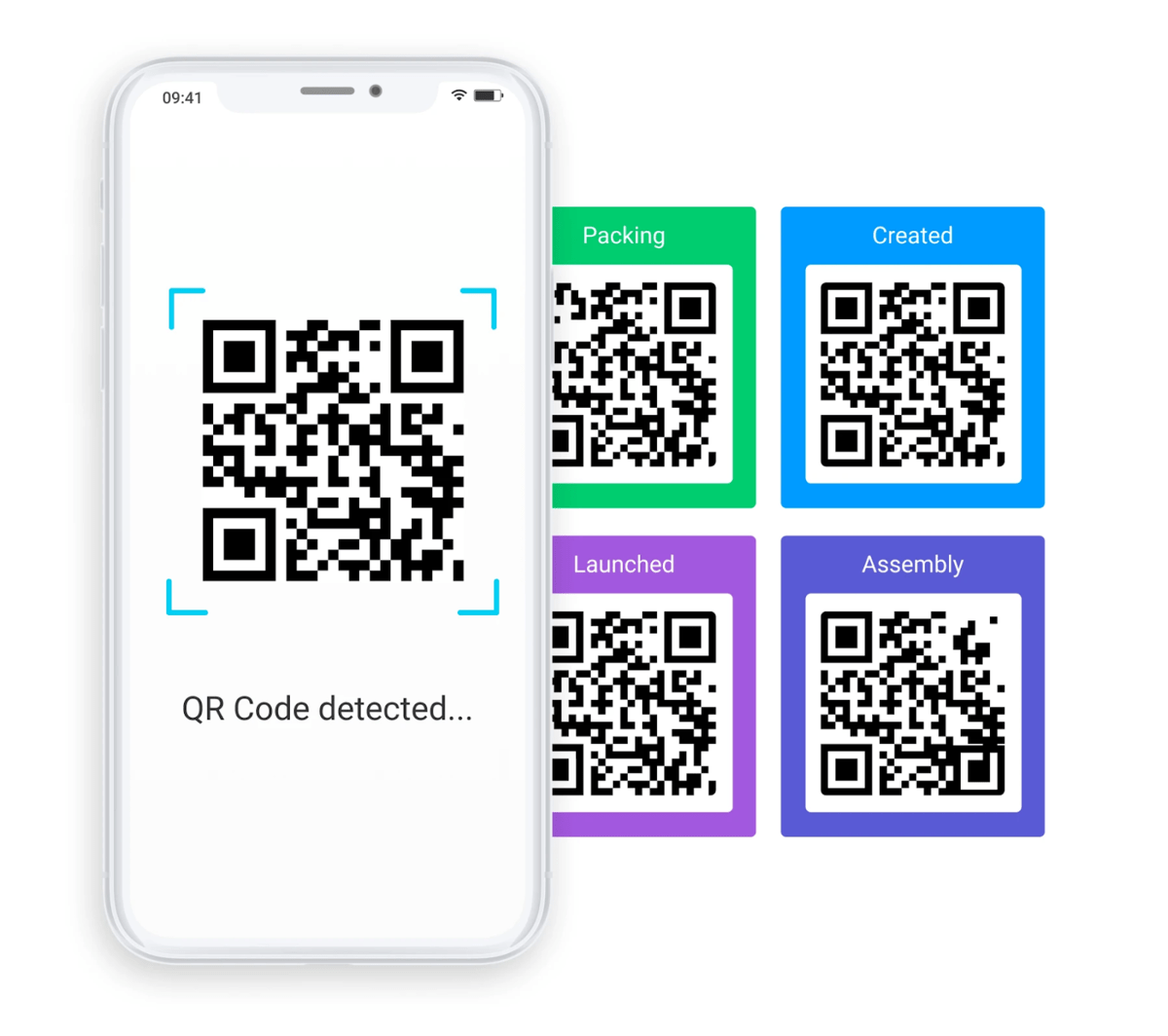 Image of monday.com's QR code for inventory management