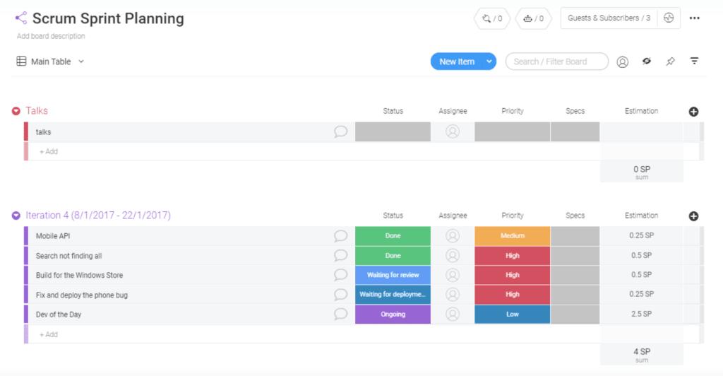 Sprint Planning Template
