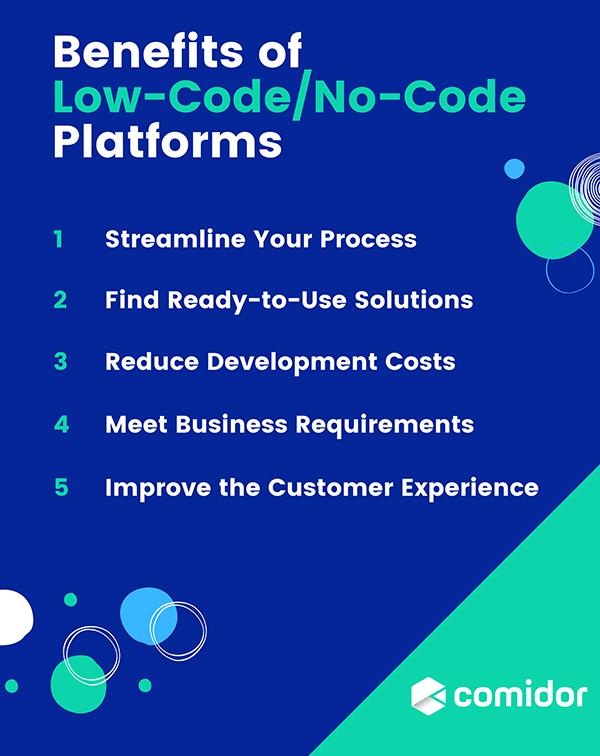 Benefits of Low-Code and No-Code Platforms | Comidor