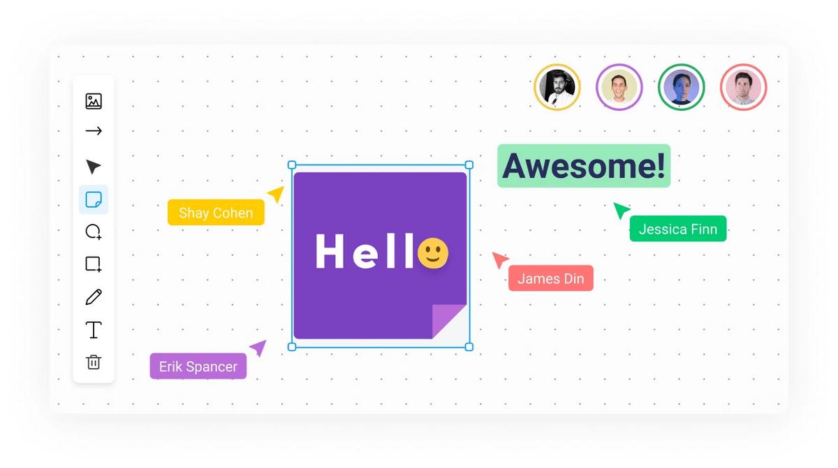 monday.com collaboration using Whiteboards
