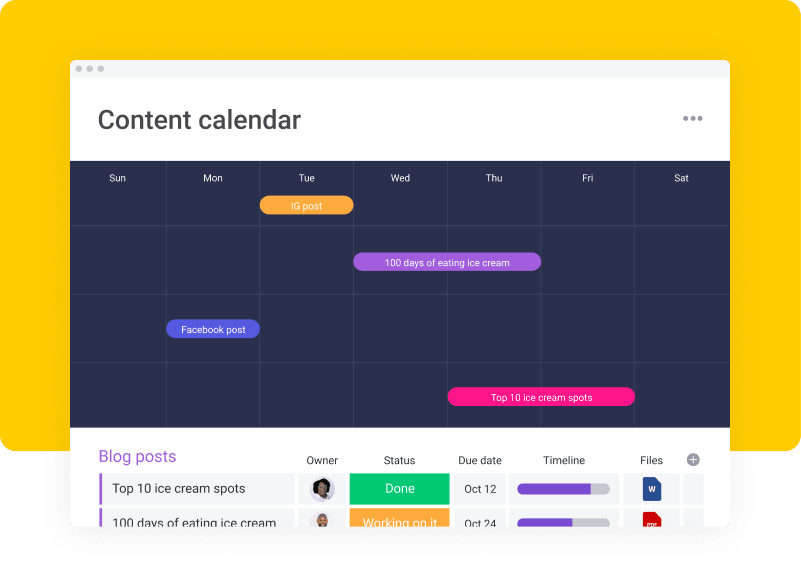 visualize your creative campaigns with monday.com