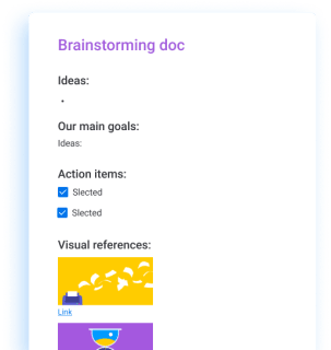 brainstorming- workdocs