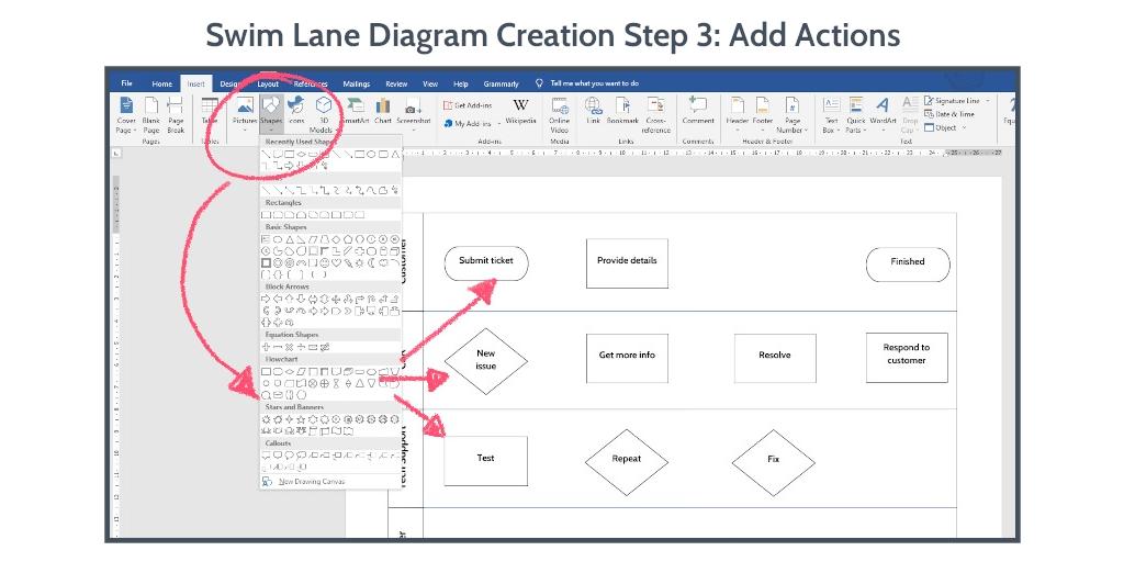 swim-lane-diagram-word-step-3