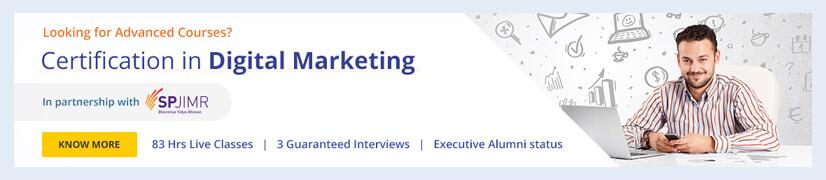 Certification in Digital Marketing - SPJIMR