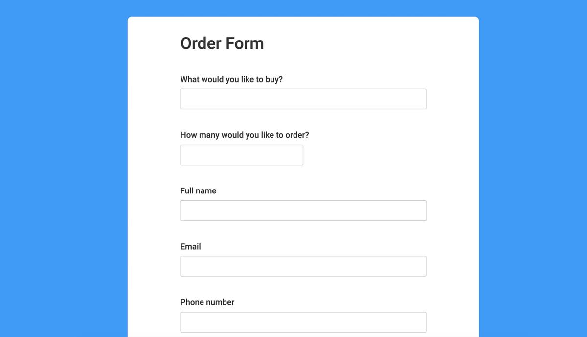 monday.com order form template
