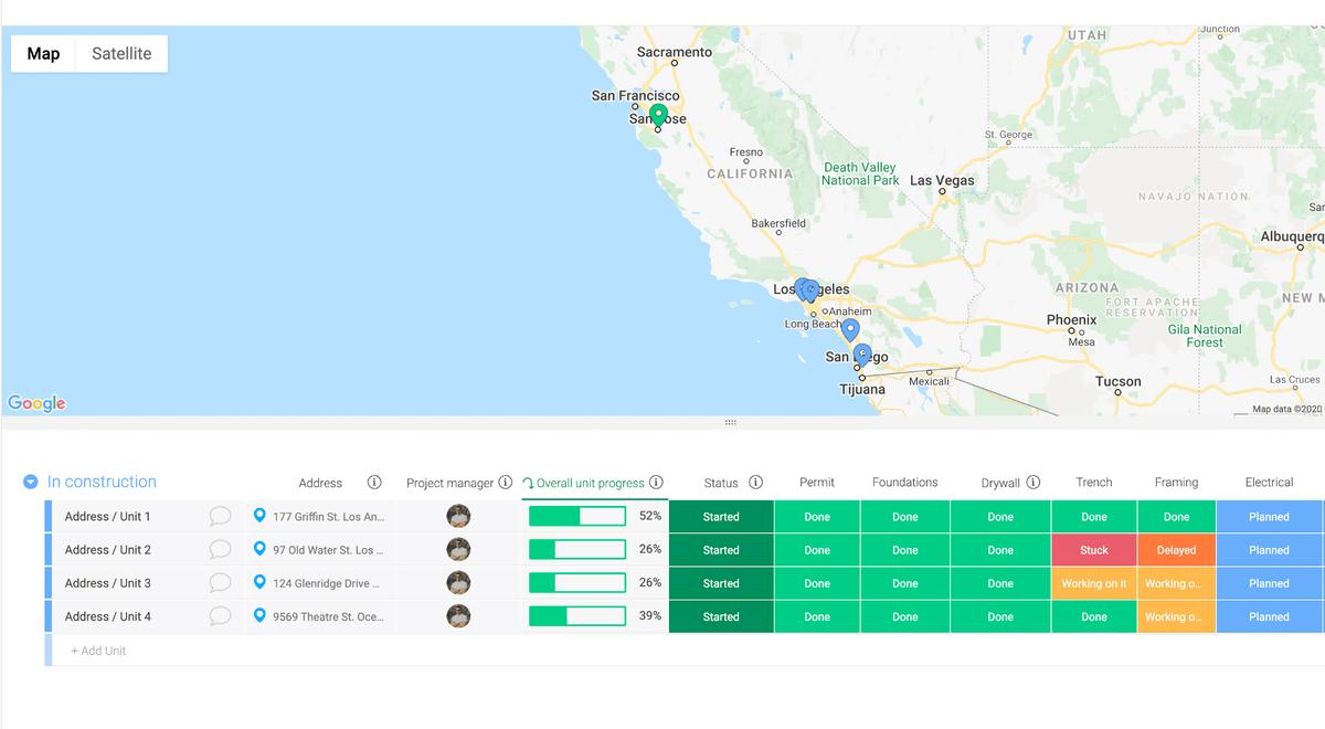 monday.com construction management template
