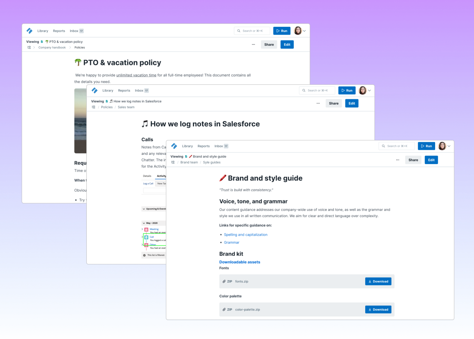 announcing pages