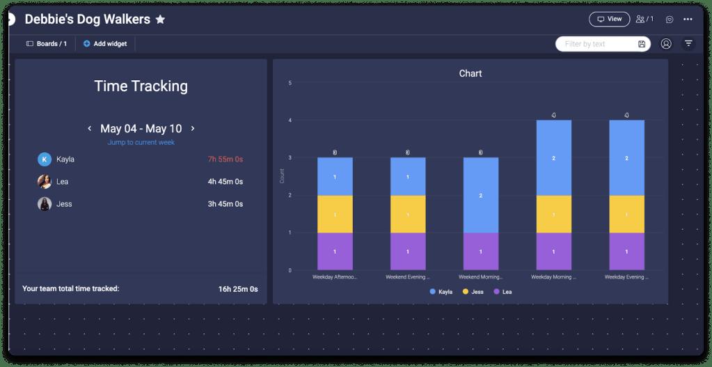 monday.com time-tracking analytics