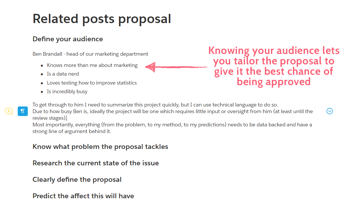 project proposal - plan audience