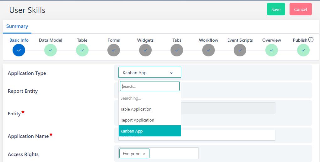 App Builder Kanban   Comidor Platform