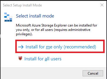 Run StorageExplorer.exe file