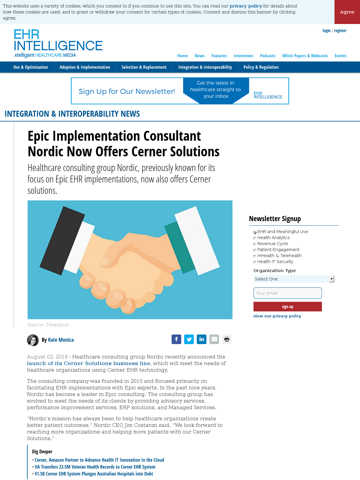 Epic Implementation Consultant Nordic Now Offers Cerner