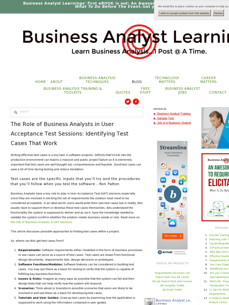 The Role of Business Analysts in User Acceptance Test Sessions ...
