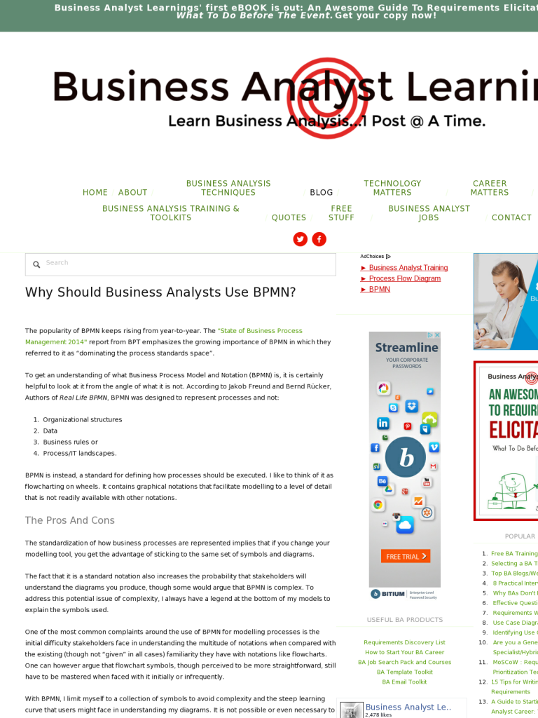 Why Should Business Analysts Use BPMN? - BPI - The destination for  everything process related