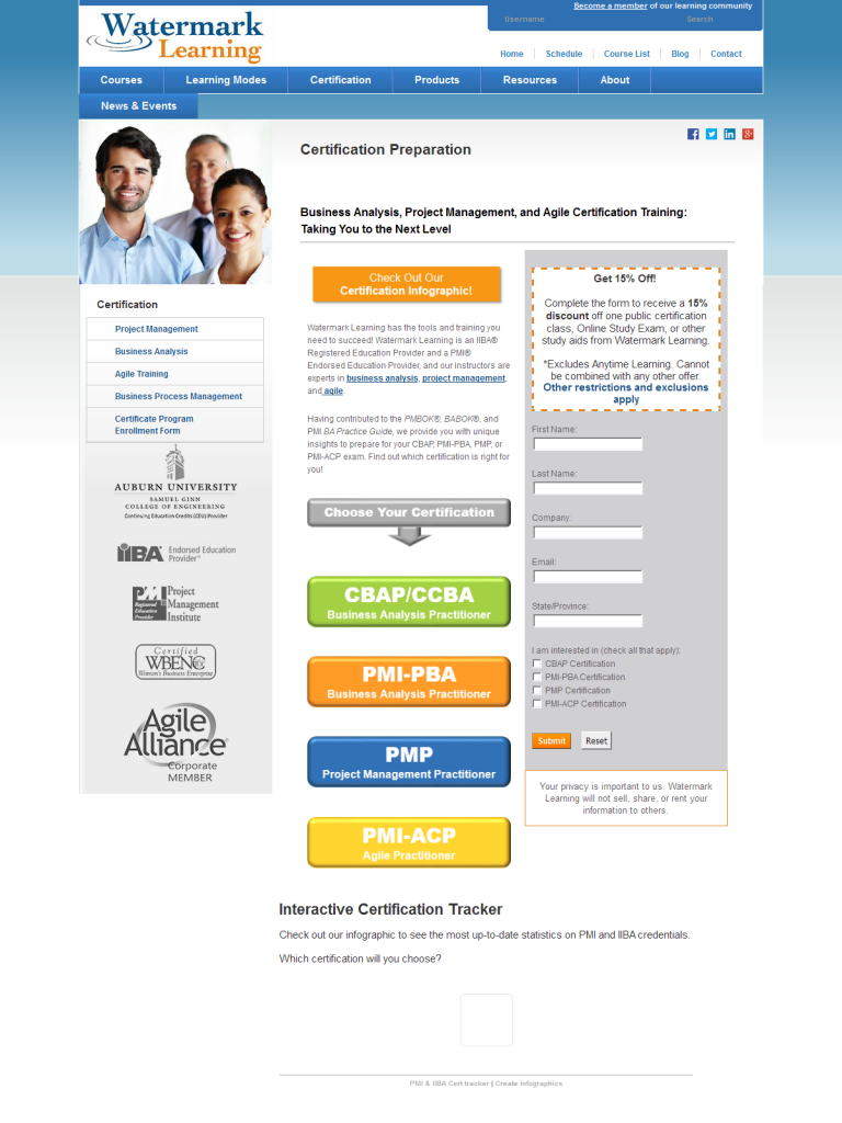 Certification Preparation for CBAP/CCBA, PMI-PBA, PMP, and