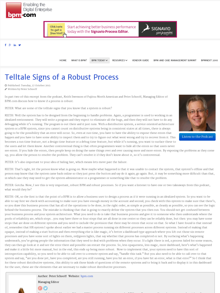 telltale signs of a robust process bpi the destination for
