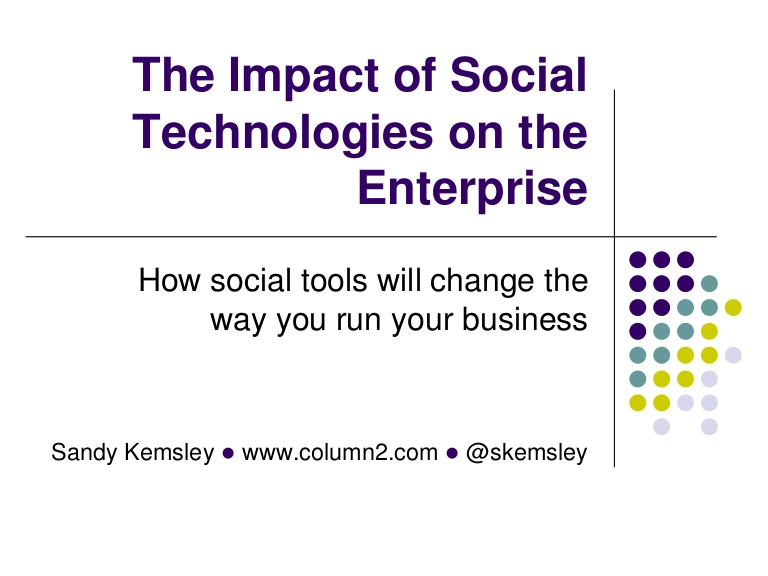sociological impact of new technology on