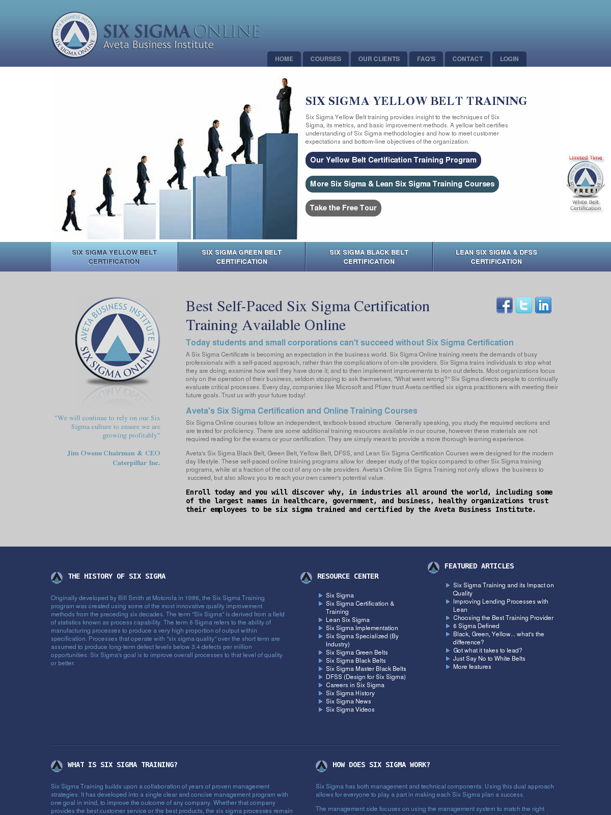Online Six Sigma Certification Training And Lean 6 Sigma Bpi
