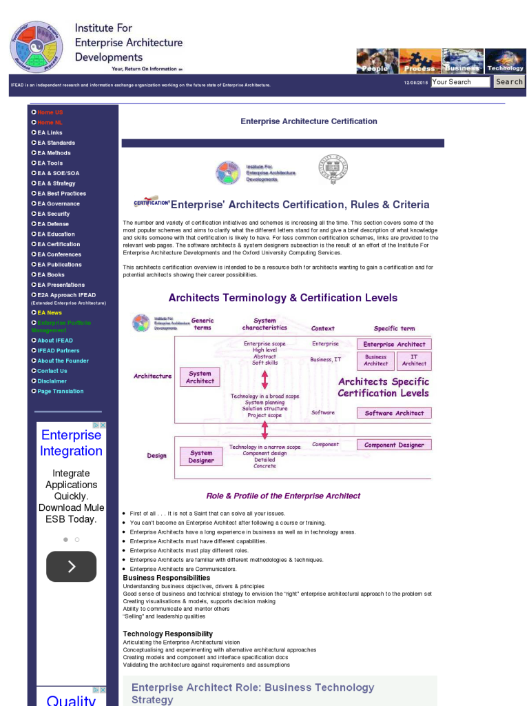 Enterprise architecture certification institute for enterprise enterprise architecture certification institute for enterprise architecture developments ifead 1betcityfo Images