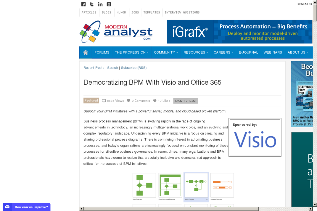 Democratizing BPM With Visio and Office 365 > Business