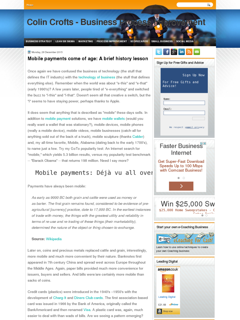 Mobile payments come of age: A brief history lesson - BPI - The destination  for everything process related