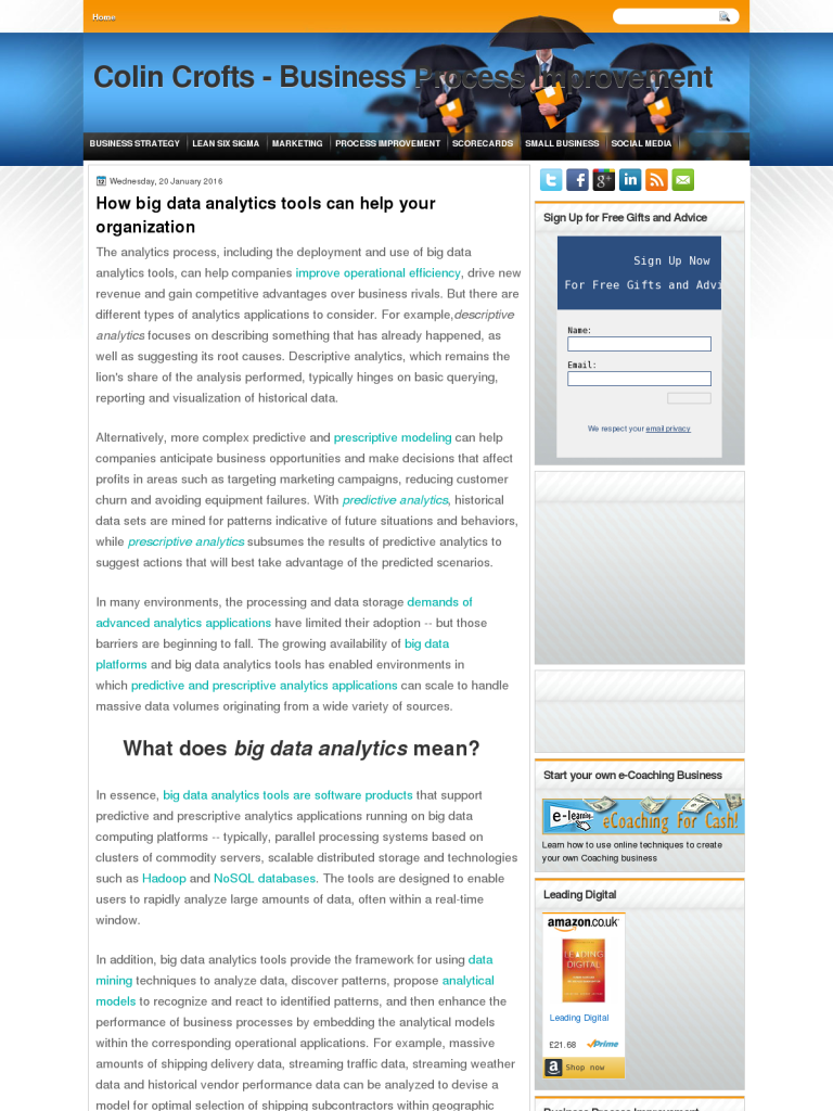How big data analytics tools can help your organization