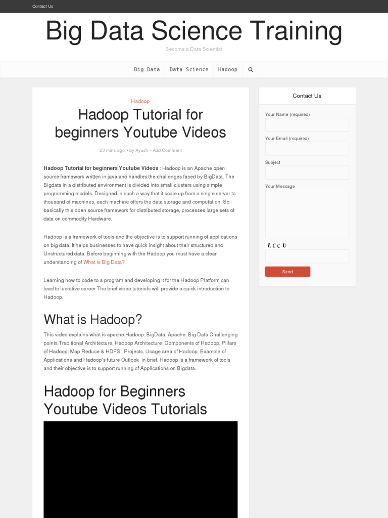 Hadoop tutorial for beginners youtube videos bpi the hadoop tutorial for beginners youtube videos bpi the destination for everything process related baditri Image collections