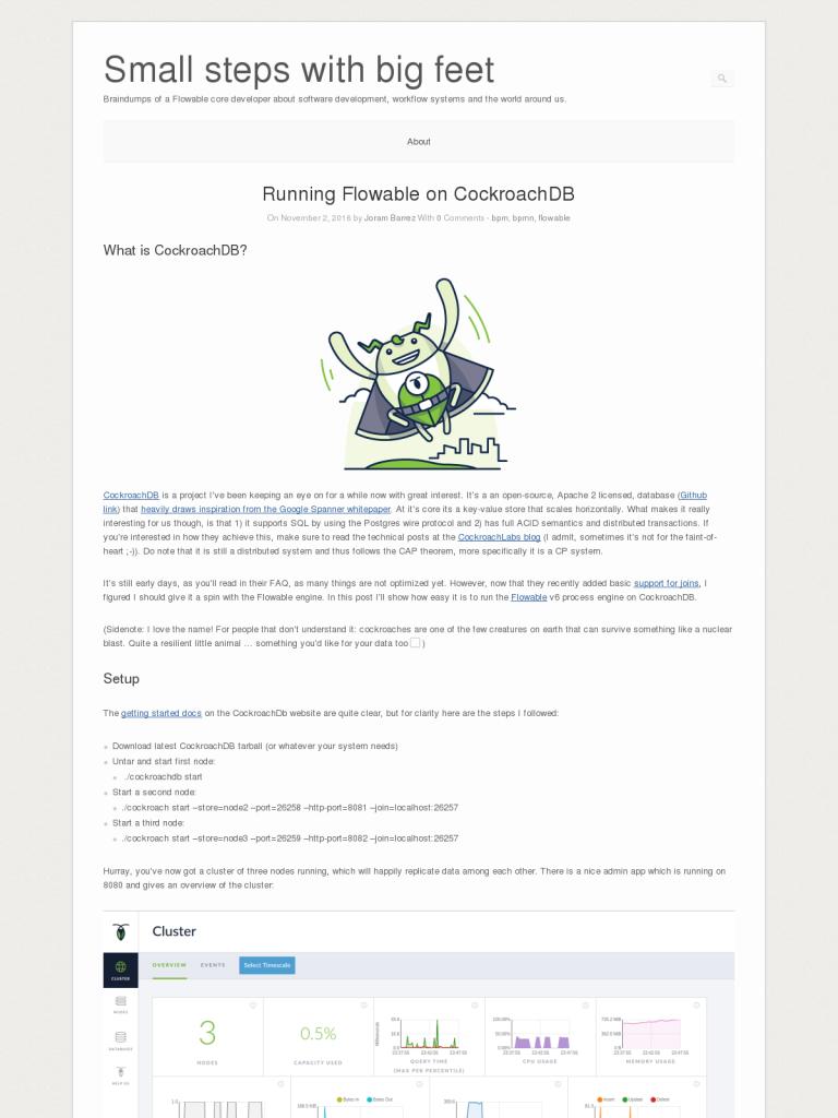 Running Flowable on CockroachDB - BPI - The destination for