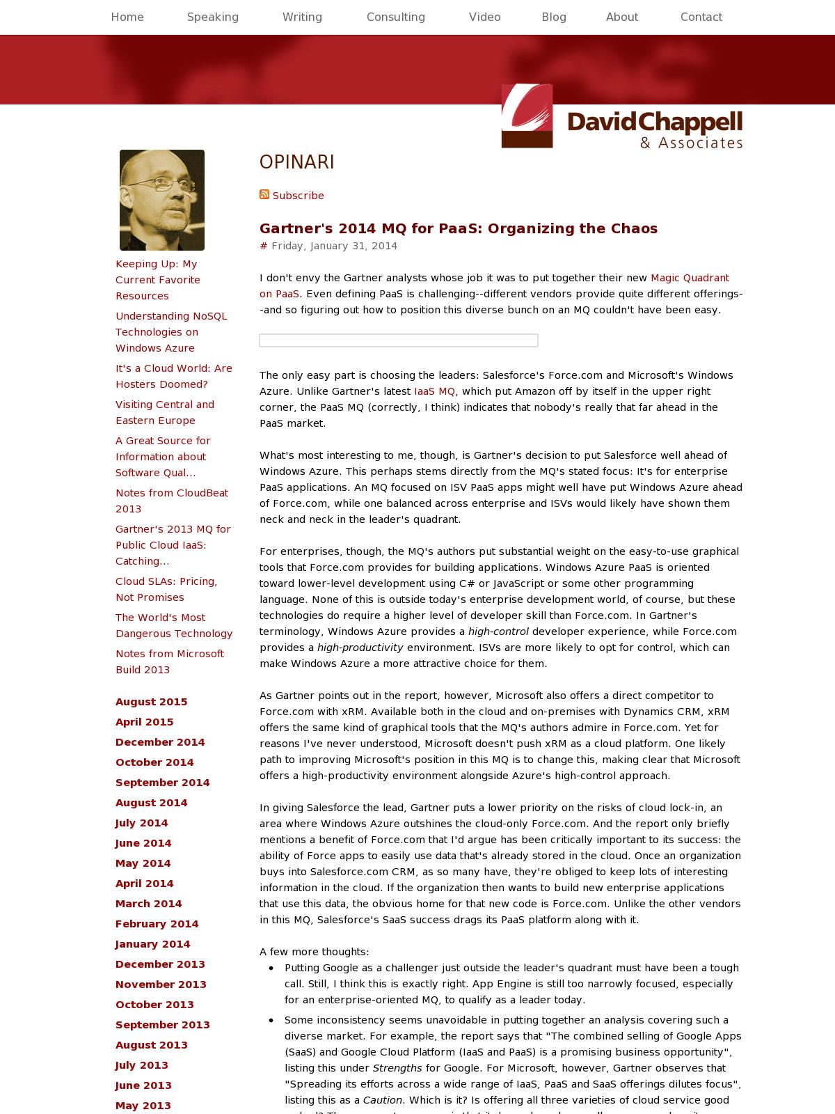 Gartner S Top 10 Strategic Technology Trends For 2015: Gartner's 2014 MQ For PaaS: Organizing The Chaos
