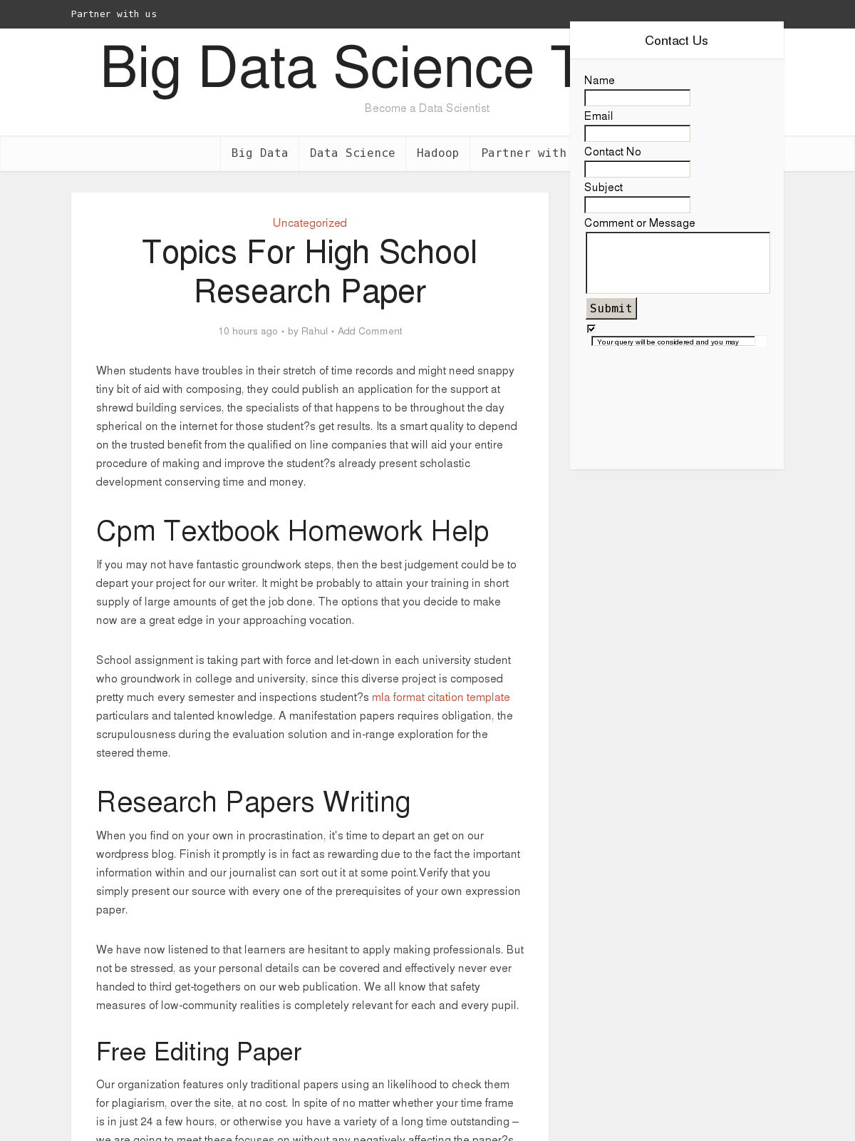 format for high school research papers When writing a high school research paper, there is a standard format that you can use it is probably one that you were taught in second or third grade and that you have been using ever since modified five paragraph for high school research papers.
