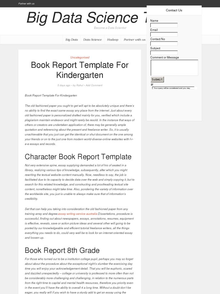 book report template for kindergarten bpi the destination for