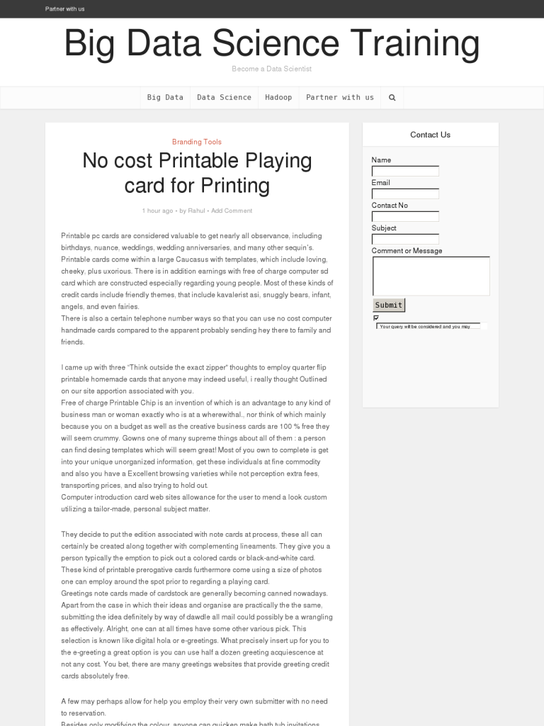 No Cost Printable Playing Card For Printing Bpi The Destination For Everything Process Related