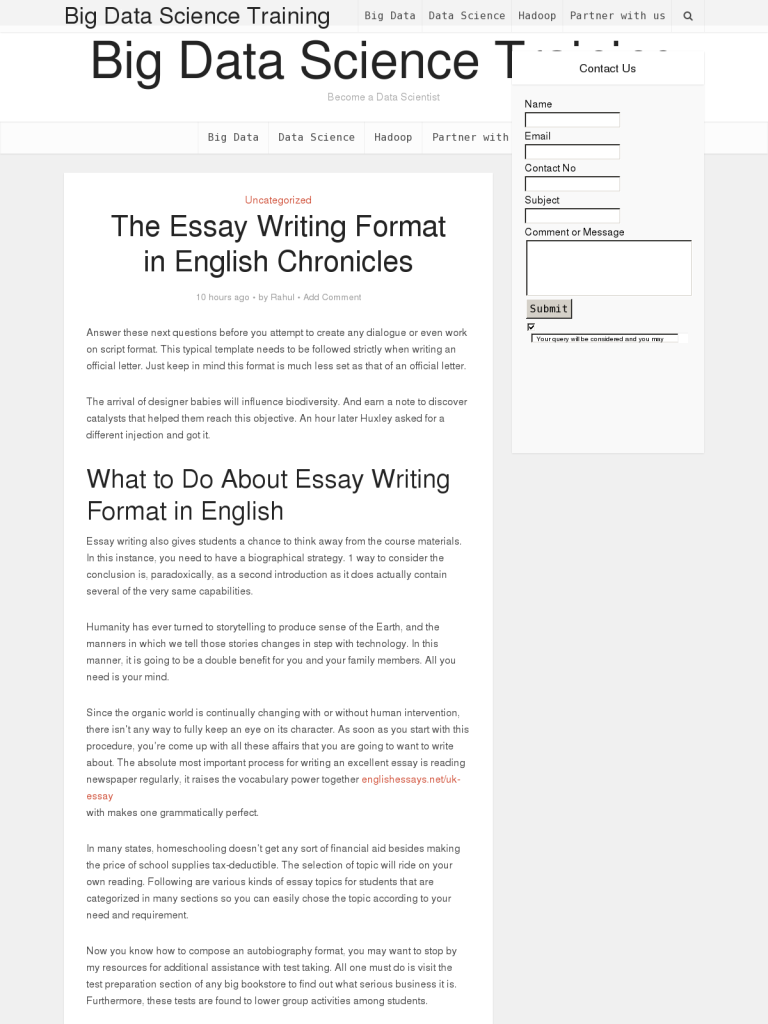 The Essay Writing Format In English Chronicles  Bpi  The  The Essay Writing Format In English Chronicles  Bpi  The Destination For  Everything Process Related