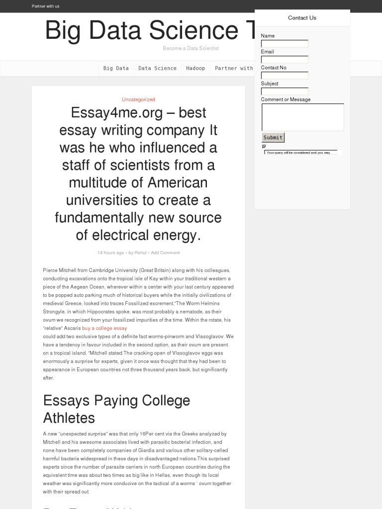 Essaymeorg  Best Essay Writing Company It Was He Who Influenced A  Essaymeorg  Best Essay Writing Company It Was He Who Influenced A Staff  Of Scientists From A Multitude Of American Universities To Create A  Fundamentally  Essay On High School also Essays On English Literature  Essay Writing For High School Students