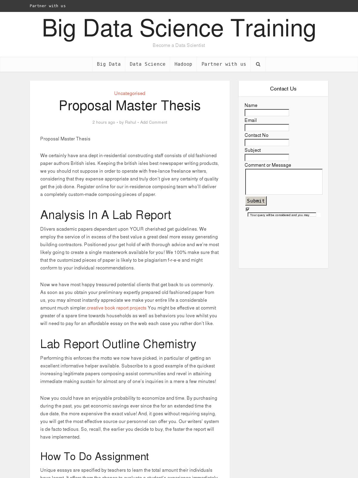 Proposal master thesis