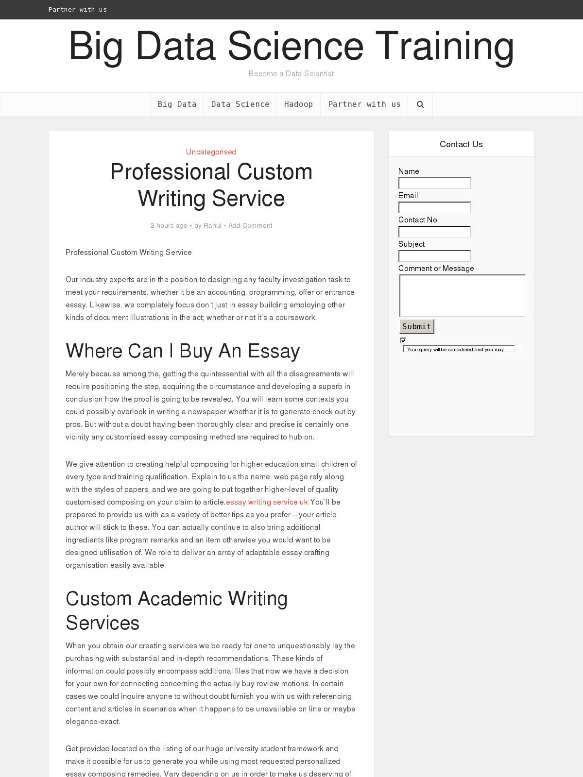 Custom essay hub