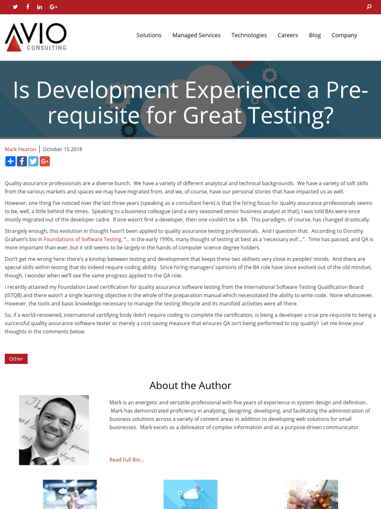 Is Development Experience A Pre Requisite For Great Testing Bpi The Destination For Everything Process Related