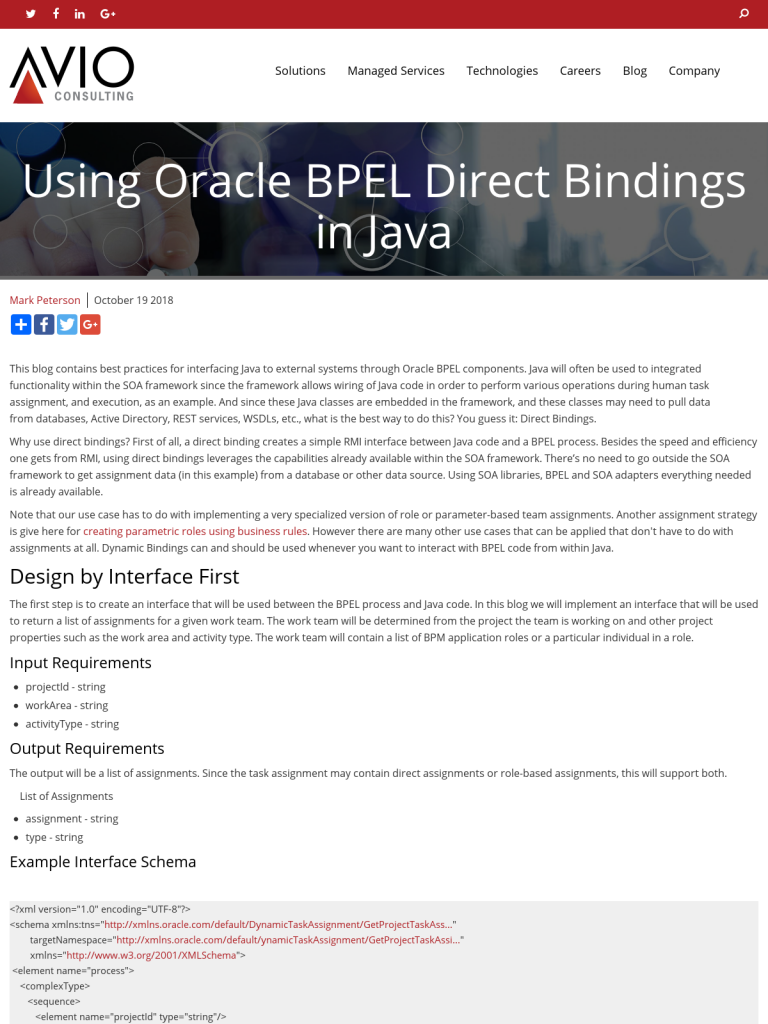 Using Oracle BPEL Direct Bindings in Java - BPI - The