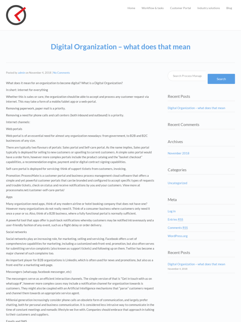 Digital Organization – what does that mean - BPI - The destination