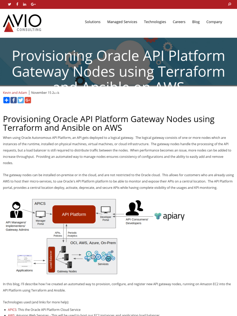 Provisioning Oracle API Platform Gateway Nodes using