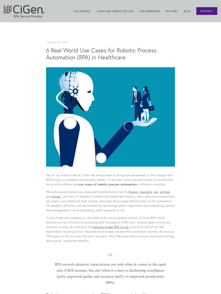 6 Real World Use Cases for Robotic Process Automation (RPA